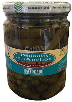 Hacendado Pepinillo sabor anchoa Tarro 250G. escurrido