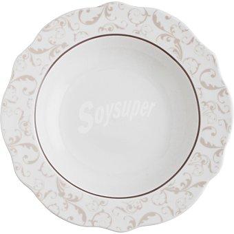 Bidasoa Baroque plato hondo Bidasoa 21 cm porcelana