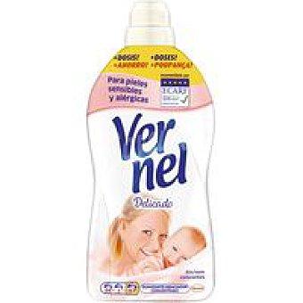 Vernel Suavizante concentrado delicado Botella 57 dosis