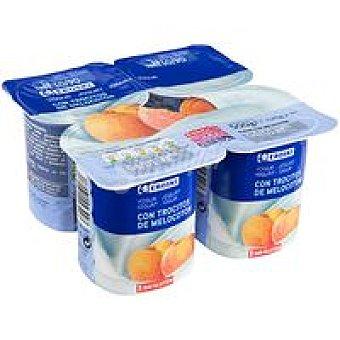 Eroski Yogur con melocotón Pack 4 x 125 g