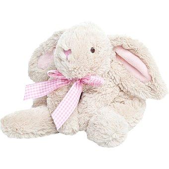 ARTESAVI Peluche conejo en color beige con detalles en rosa