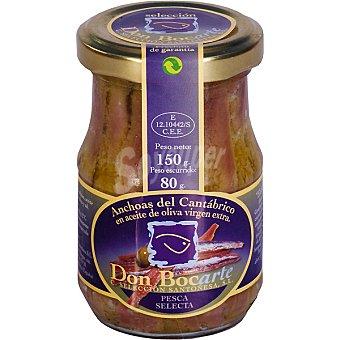 Don bocarte Filetes de anchoa en aceite de oliva virgen frasco 150 g frasco 150 g
