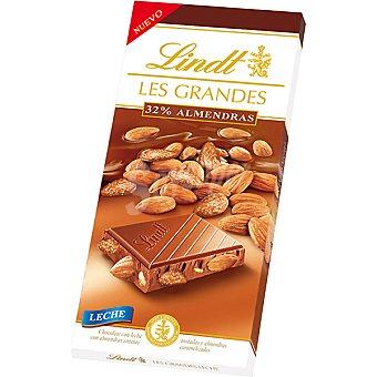 Lindt Tableta Les Grandes Chocolate con leche con 32% de almendras 150 g
