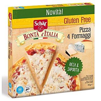 Schär Pizza 4 quesos, ultracongelada y elaborada sin gluten 415 g