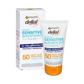 Delial Garnier Protector solar facial gel SPF+50 Tubo 50 ml