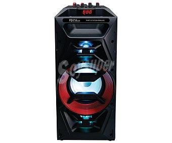 Pentafilm party station Altavoz portátil por batería, potencia 30 Watios, bluetooth, sintonizador de radio FM, lector de tarjetas SD, USB reproductor y grabador, conector auxiliar JACK 3.5mm, función KARAOKE