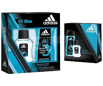 Adidas Estuche regalo para hombre con colonia de 50 mililitros y gel de ducha de 250 mililitros 1 unidad