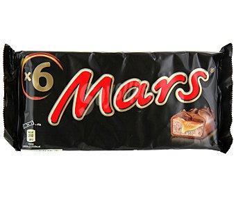 Mars Chocolatina de chocolate con caramelo y galleta  Pack de 6 x 45 g