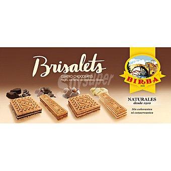BIRBA Brisalets barquillos rellenos de cuatro chocolates  estuche 115 g