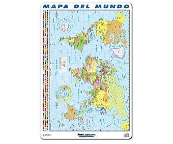 ERIK Lámina educativa con el mapa del mundo 1 unidad