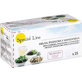 Special Line infusión relajante de melisa pasiflora y manzanilla  estuche 25 bolsitas