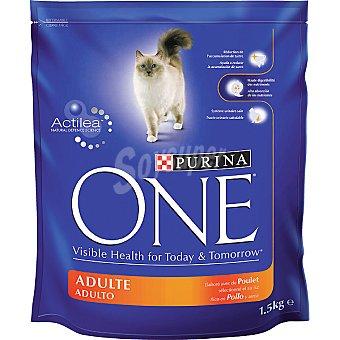 Purina One Alimento especial para gatos rico en pollo y arroz paquete 1,5 kg Paquete 1,5 kg