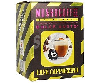 Mushucoffee Café cappuccino en monodosis, 100 gramos, 10 unidades