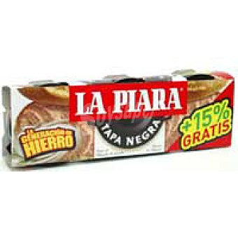 La Piara Paté Tapa Negra Lata, pack 3x92 g + 15%