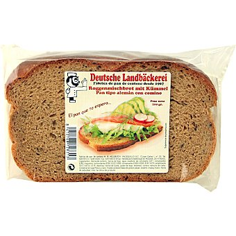 F RAFFLE Roggenmischbrot mit Kümmel pan tipo alemán con comino Paquete 200 g
