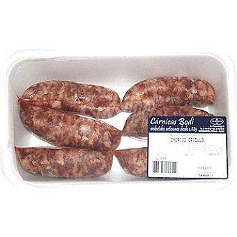 CARNICAS BODI Chorizo criollo peso aproximado Bandeja 350 g