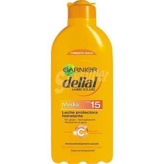 Delial Garnier Leche protectora ultra hidratante FP-15 resistente al agua Frasco 400 ml