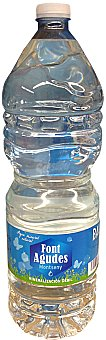 FONT AGUDES Agua mineral natural Botella 2 L