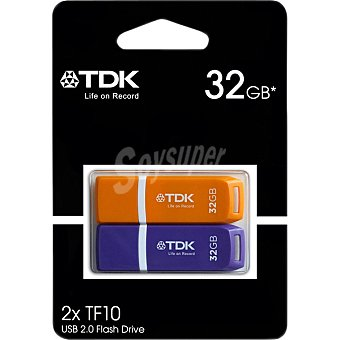 TDK Pen Drives 32 GB en distintos colores Pack 2