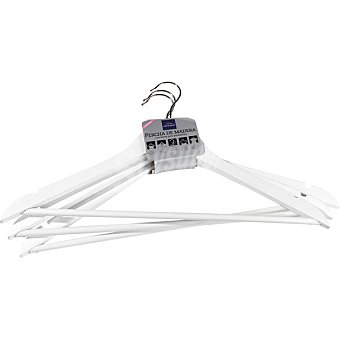 Casactual Strippes Set de 3 perchas de madera en color blancas