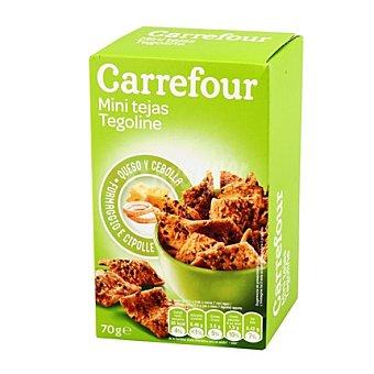Carrefour Mini tejas queso y cebolla 70 g