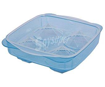 FACKELMANN Bandeja para cubitos de hielo en forma de diamante con tapa, 1 unidad