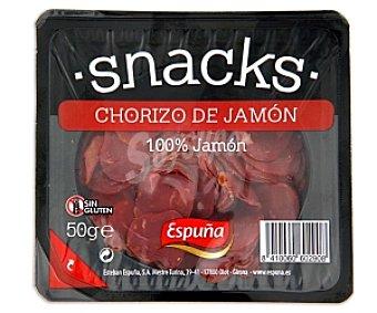 Espuña Snack chorizo de jamón 50 Gramos