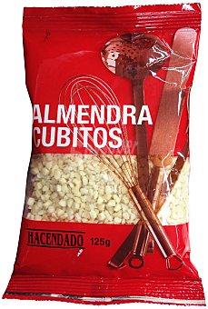 Hacendado Almendra cruda cubitos Paquete de 125 g