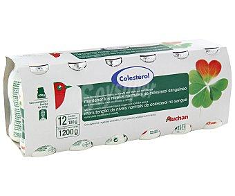 "Auchan Leche Fermentada Desnatada ""reduce Colesterol Natural"" 12 unidades de 100 ml"