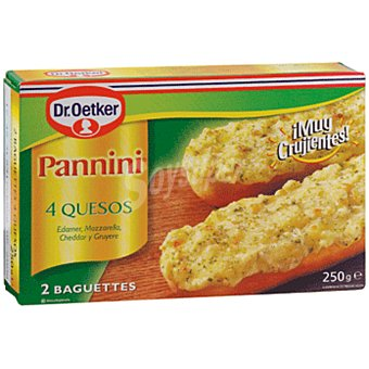 Pannini Dr. Oetker Paninis de 4 quesos Pack 2x125 g