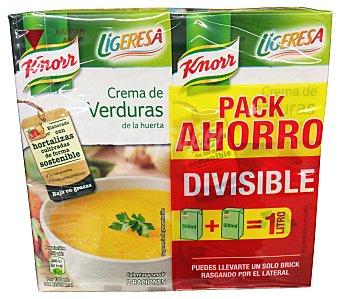 Ligeresa Crema líquida verdura baja en calorías 2 unidades de 500 cc (1 L)