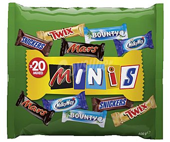 Mars Chocolatina surtido Best Of Our Minis Paquete 400 g