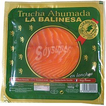 LA BALINESA Trucha ahumada en lonchas Sobre 100 g