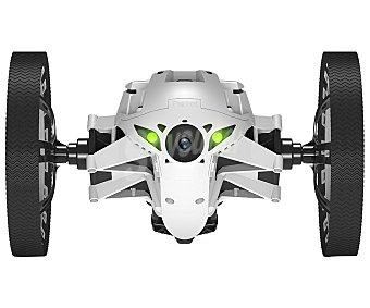 PARROT JUMPING SUMO Drones Blanco, uso interior y exterior, pilotaje a traves de dispositivo móvil con grabación y streaming de video en vivo, hasta 7 km/h de velocidad, salto de hasta 80 cm, conexión con Wi-Fi.