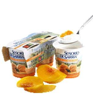 Señorio de Sarria Yogur con melocotón 125 g
