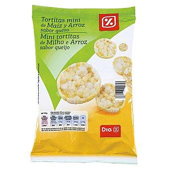 DIA Tortitas mini de maíz y arroz sabor queso  paquete 75 gr