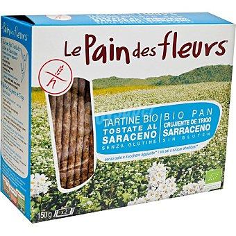Le pain des fleurs Pan ecológico crujiente de trigo sarraceno sin gluten, sin sal y sin azúcares Envase 207 g