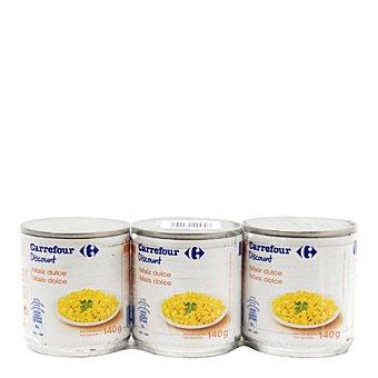 Carrefour Maíz dulce Pack 3X140 g