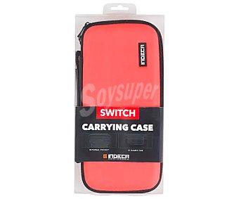 Indeca Bolsa de transporte para Nintendo Switch, color rojo neon indeca