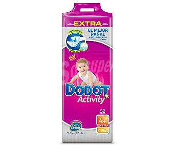 DODOT Activity Extra Pañales para niños de 9 a 15 kilogramos, talla 4 52 unidades