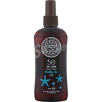 NIEVINA Aceite solar coco Healthy Tan FP-50 resistente al agua y no graso Spray 200 ml