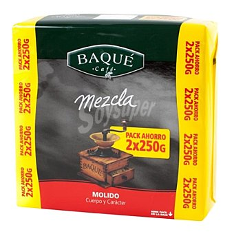 Baqué Café molido mezcla Pack de 2x250 g