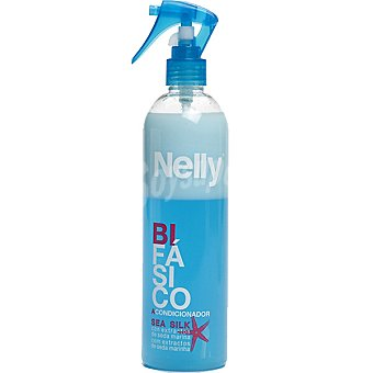 Nelly Acondicionador bifásico con extractos de seda marina Spray 400 ml