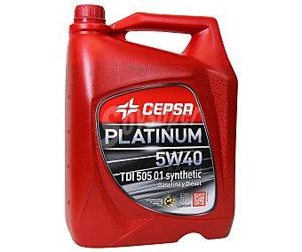 CEPSA Aceite sintético para vehículos gasolina y diésel TDI 505 01 5 Litros