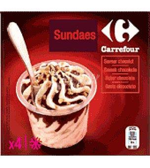 Carrefour Helado sundae chocolate Caja de 4 unidades