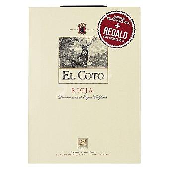 "El Coto Estuche de vino D.O. Ca. ""rioja"" tinto crianza + regalo vino crianza 50 cl. Pack 2x75 cl"