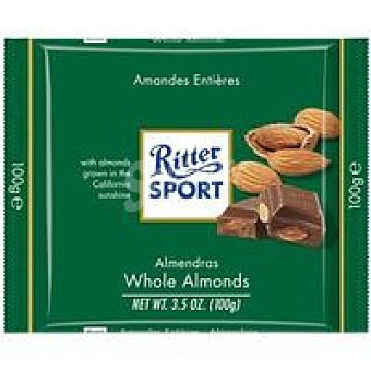 Ritter Chocolate Whole Almonds Tableta 100 g