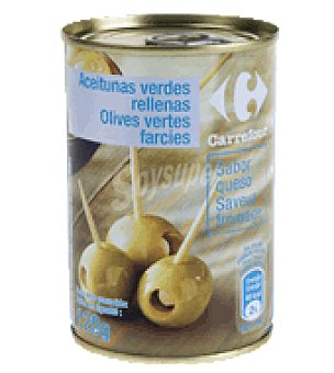 Carrefour Aceitunas verdes rellenas de queso 120 g