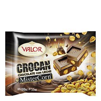 Valor Crocan chocolate con leche Mistercorn 100 g