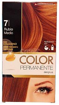 Deliplus Tinte coloracion permanente Nº 07 rubio medio (contiene colageno para hidratar) u